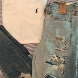 Ralph Lauren Sweaters - Ralph Lauren sport white vneck sweater